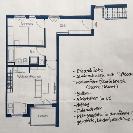 Rent this 2 bed apartment on Hofzeichendamm 36 in 13125 Berlin, Germany