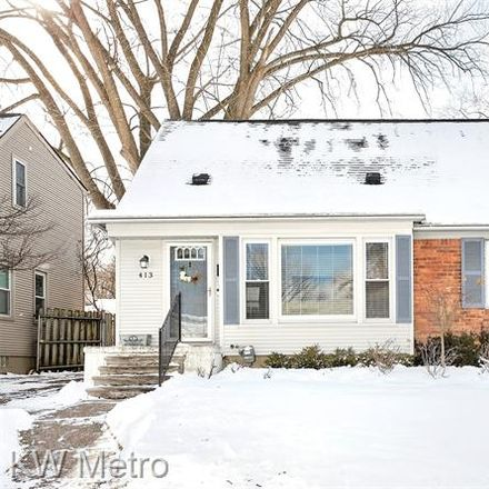 Rent this 4 bed house on 413 Walnut Avenue in Royal Oak, MI 48073