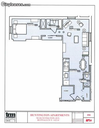 Rent this 1 bed apartment on Public School 22 in Huntington Avenue, Buffalo