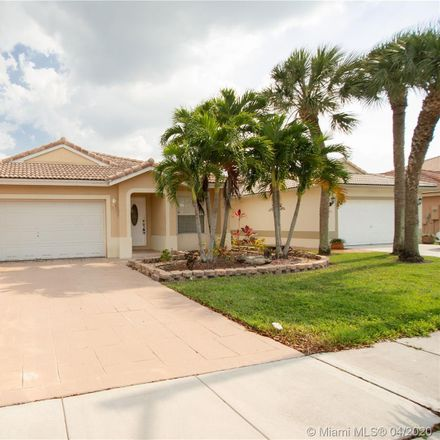 Rent this 3 bed house on 20840 Northwest 18th Street in Pembroke Pines, FL 33029