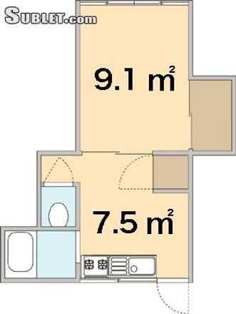 Rent this 1 bed apartment on esper. in 413, Minato