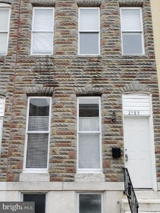 Rent this 3 bed townhouse on 2585 West Fayette Street in Baltimore, MD 21223