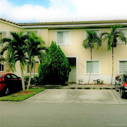 Rent this 3 bed townhouse on 17378 Southwest 139th Court in Richmond West, FL 33177
