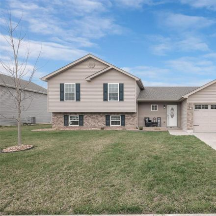 Rent this 4 bed house on 439 Prairie Creek Drive in Wentzville, MO 63348