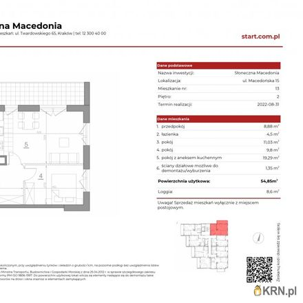 Rent this 3 bed apartment on Macedońska 6 in 30-626 Krakow, Poland