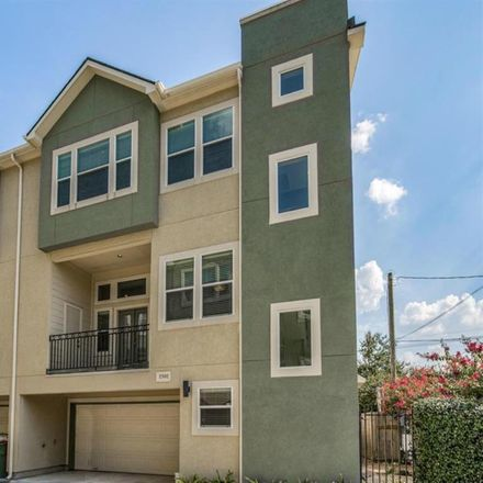 Rent this 3 bed condo on 2302 Beall Street in Houston, TX 77008