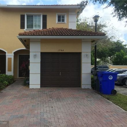 Rent this 3 bed townhouse on 1744 Southwest 81st Avenue in North Lauderdale, FL 33068