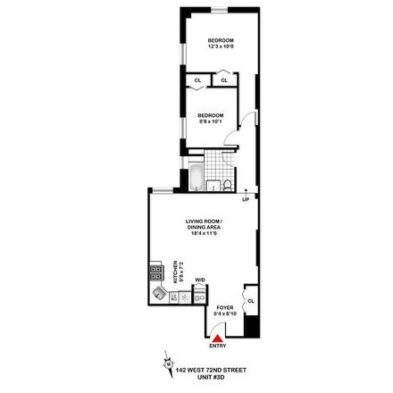 Rent this 2 bed apartment on Zurutto in 142 West 72nd Street, New York