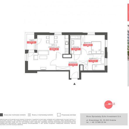 Rent this 3 bed apartment on Biuro Sprzedaży Oaza Bronowice in Stańczyka, 30-093 Krakow