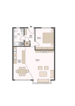 Rent this 2 bed apartment on Hauptstraße 40 in 88677 Markdorf, Germany