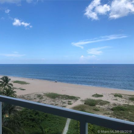 Rent this 3 bed condo on 704 North Ocean Boulevard in Pompano Beach, FL 33062
