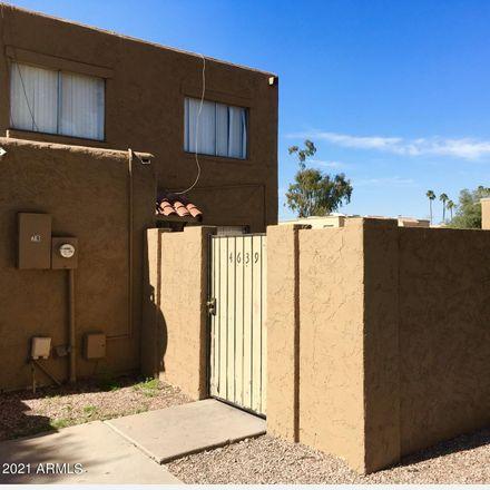 Rent this 2 bed townhouse on 4639 East Pueblo Avenue in Phoenix, AZ 85040