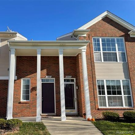 Rent this 2 bed condo on 45997 Rhodes Dr in Macomb, MI