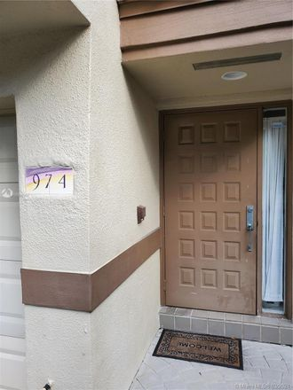 Rent this 3 bed condo on 974 Northwest 93rd Avenue in Plantation, FL 33324
