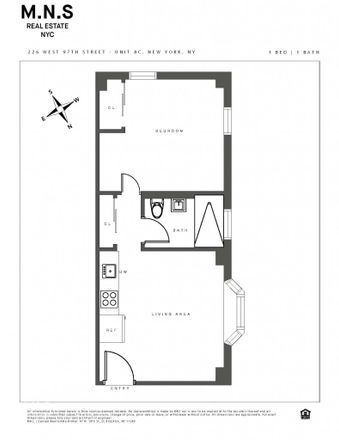 Rent this 1 bed apartment on 226 West 97th Street in New York, NY 10025