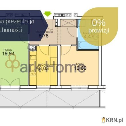 Rent this 3 bed apartment on Armii Krajowej 3e in 67-100 Nowa Sól, Poland