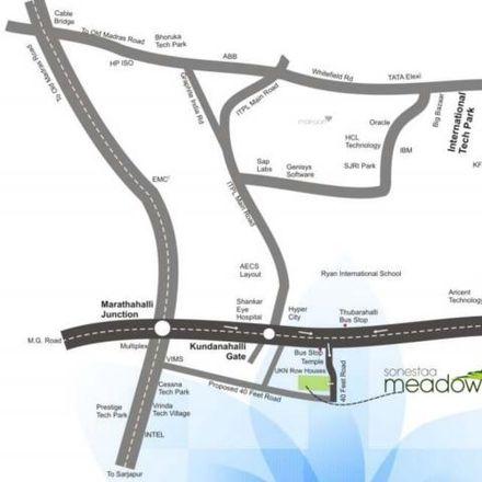 Rent this 3 bed apartment on Hagadur in Bengaluru - 560 037, Karnataka
