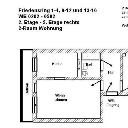 Rent this 2 bed apartment on Friedensring 10 in 29410 Salzwedel, Germany