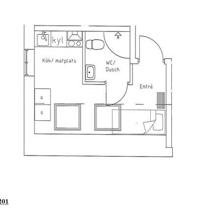 Rent this 1 bed apartment on Bockasjögatan in 504 31 Borås, Sweden