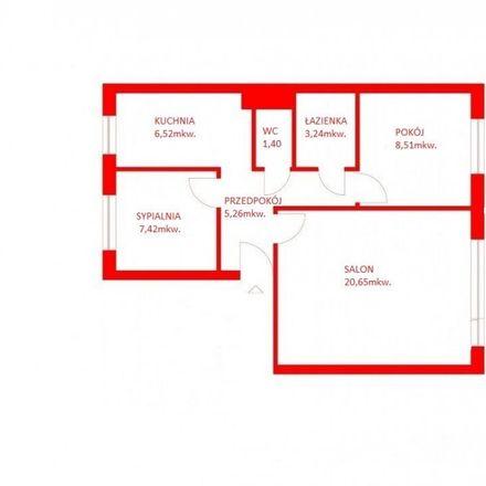 Rent this 3 bed apartment on Jana Kochanowskiego 21 in 84-200M Wejherowo, Poland