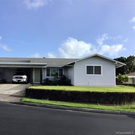 Rent this 3 bed townhouse on 577 Puaalii Pl in Aiea, HI