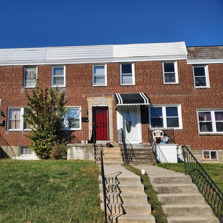 Rent this 2 bed townhouse on 3632 Lyndale Avenue in Baltimore, MD 21213