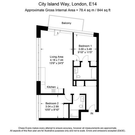 Rent this 2 bed apartment on Kent Building & City Island Arts Club in 47 Hope Street, London E14 0QG