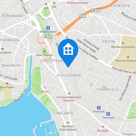 Rent this 1 bed apartment on Nişancı Sokağı in 34724 Kadıköy, Turkey