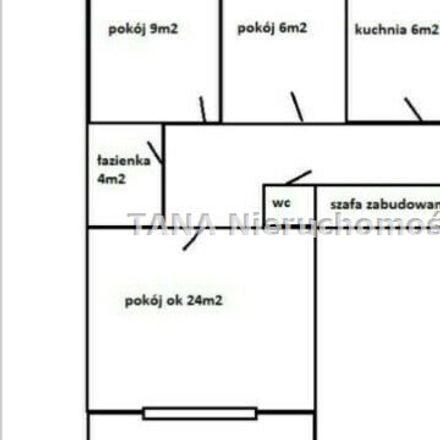 Rent this 3 bed apartment on Osiedle Kościuszkowskie 6 in 31-858 Krakow, Poland