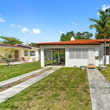 Rent this 2 bed house on 1857 Southwest 24th Terrace in Miami, FL 33145
