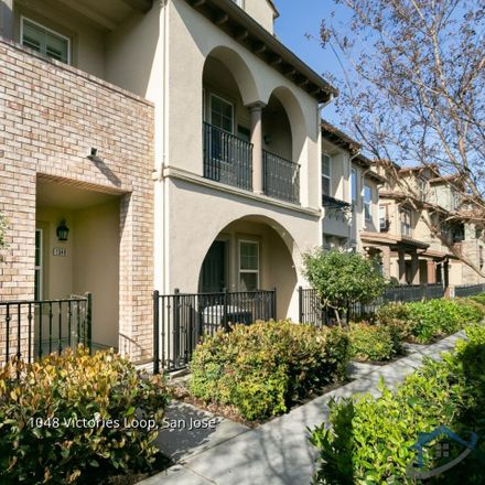 Rent this 3 bed townhouse on 1048 Victories Loop in San Jose, CA 95116