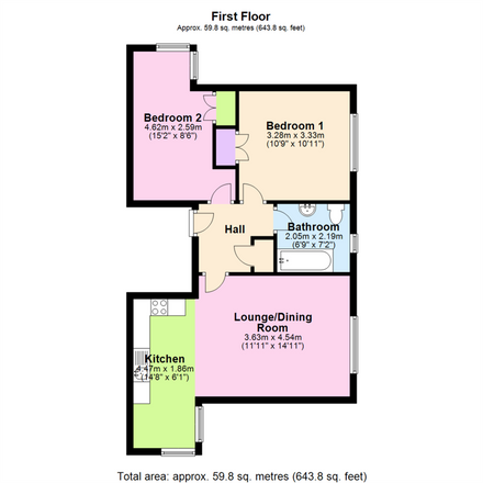 Rent this 2 bed apartment on Yeoman Terrace in Gedling NG4 3ER, United Kingdom