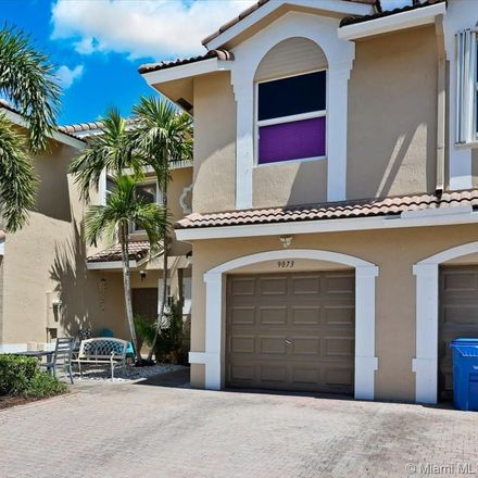 Rent this 3 bed townhouse on 9073 Northwest 55th Street in Coral Springs, FL 33351