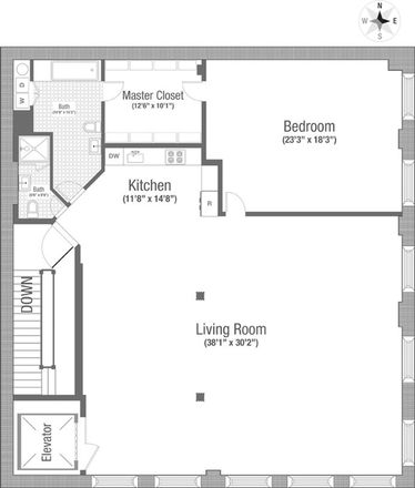 Rent this 1 bed loft on 117 Hudson Street in New York, NY 10013