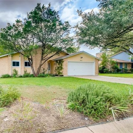 Rent this 3 bed house on 8901 Sparkling Creek Drive in Austin, TX 78729
