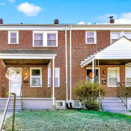 Rent this 3 bed townhouse on 1805 East Belvedere Avenue in Baltimore, MD 21239