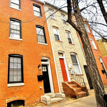 Rent this 3 bed townhouse on 104 South Wolfe Street in Baltimore, MD 21231