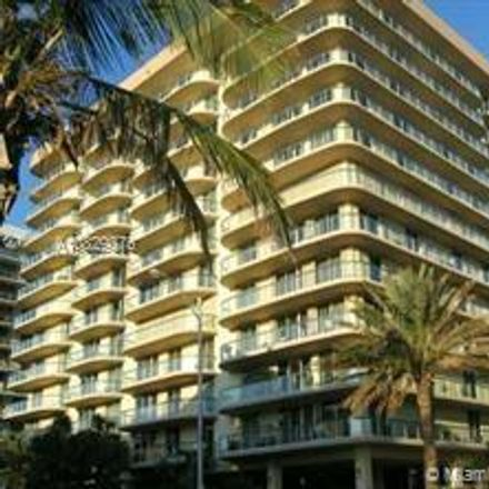 Rent this 2 bed condo on Champlain Towers East Condo in 8855 Collins Avenue, Surfside