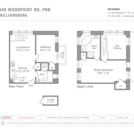 Rent this 2 bed condo on New Women Space in 188 Woodpoint Road, New York