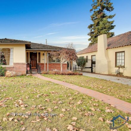 Rent this 2 bed house on 1115 Roycott Way in San Jose, CA 95125