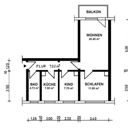 Rent this 3 bed apartment on Tierarztpraxis Freudenberg in Klevenowstraße, 18273 Güstrow