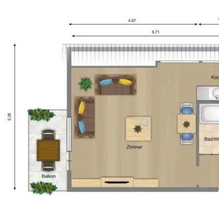 Rent this 1 bed apartment on Namurstraße 6 in 70374 Stuttgart, Germany