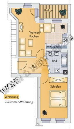 Rent this 2 bed apartment on Neumannstraße 4 in 04318 Leipzig, Germany