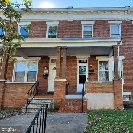 Rent this 3 bed townhouse on 2851 Mayfield Avenue in Baltimore, MD 21213