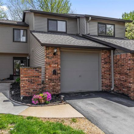 Rent this 3 bed condo on 1848 Misty Moss Drive in Saint Louis County, MO 63146