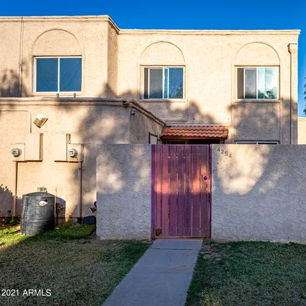 Rent this 2 bed townhouse on 4254 North 68th Lane in Phoenix, AZ 85033