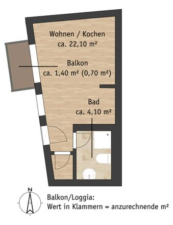 Rent this 1 bed apartment on Lange Straße 43 in 01796 Pirna, Germany