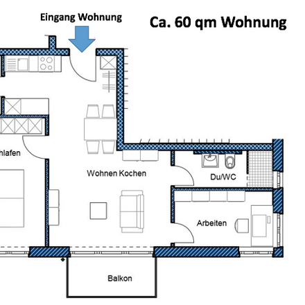 Rent this 3 bed apartment on Charles-Mannay-Straße 3 in 54294 Trier, Germany