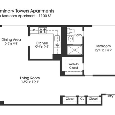 Rent this 1 bed apartment on 4800 Kenmore Avenue in Alexandria, VA 22304