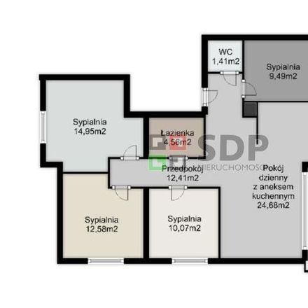 Rent this 5 bed apartment on 51-318 Wroclaw